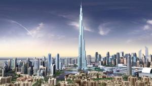 The Burj Dubai dominates the city's skyline